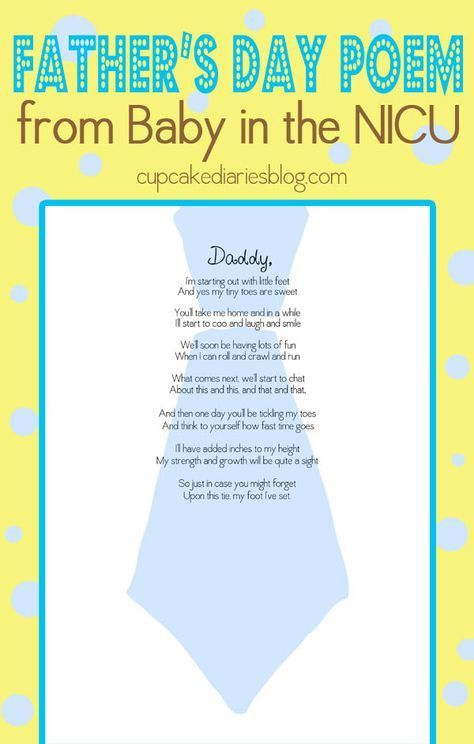 Father S Day Poem Gift From Baby In The Nicu Pinterest Babies Birth And Child