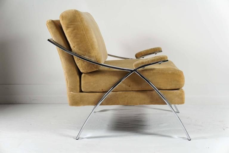 Single Chrome Baughman Armchair | Armchair, Chrome ...
