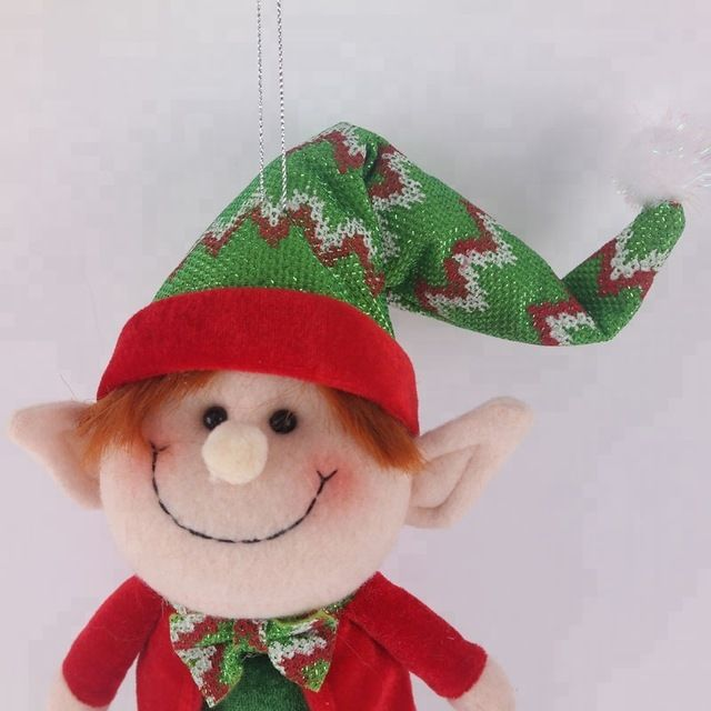 Wholesale 2018 New Product Christmas Door Hanger Toys Fleece fabric