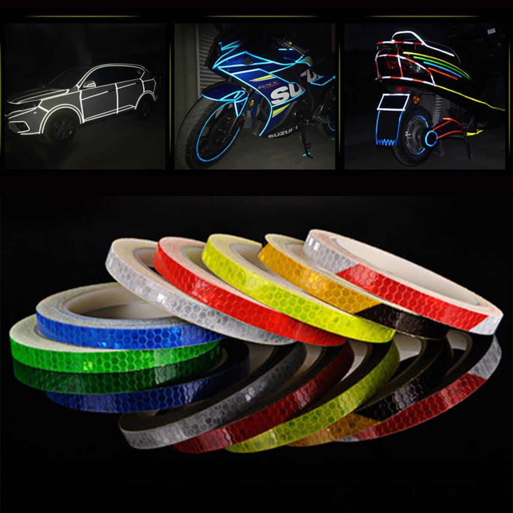 Bicycle reflective stickers mountain bike accessories reflective strip  fluorescent electric motorcycle body sticker