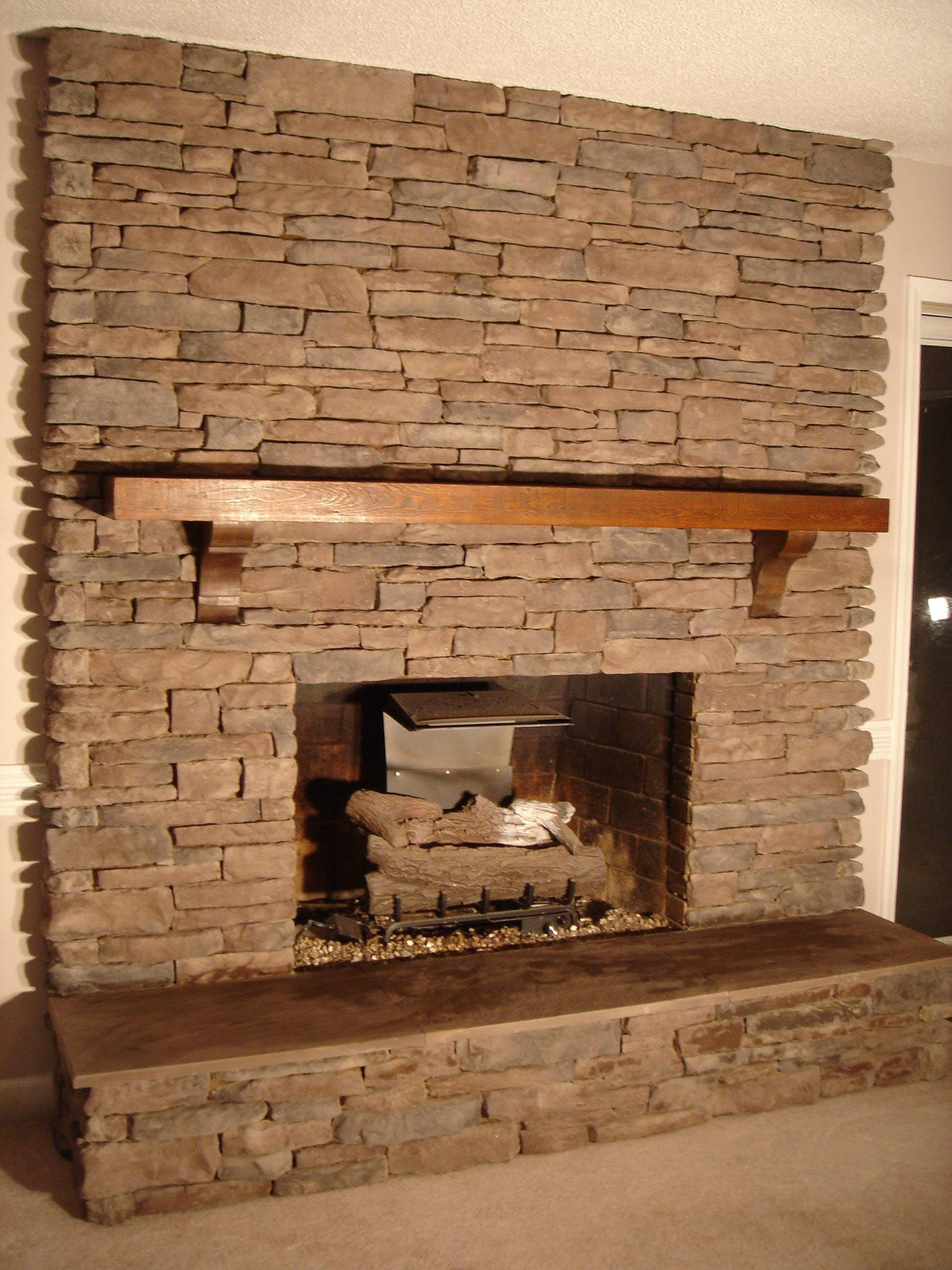 Stone Tile Fireplace Surround | Fireplace | Pinterest | Tiled ...