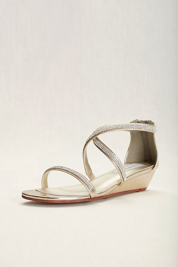 Touch Ups Moriah Strappy Wedge Sandal David S Bridal Strappy Sandals Wedge Bridal Shoes Wedge Sandals