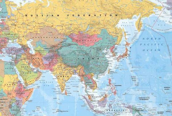 Map of the Middle East and Far East Poster 24x36  Middle east