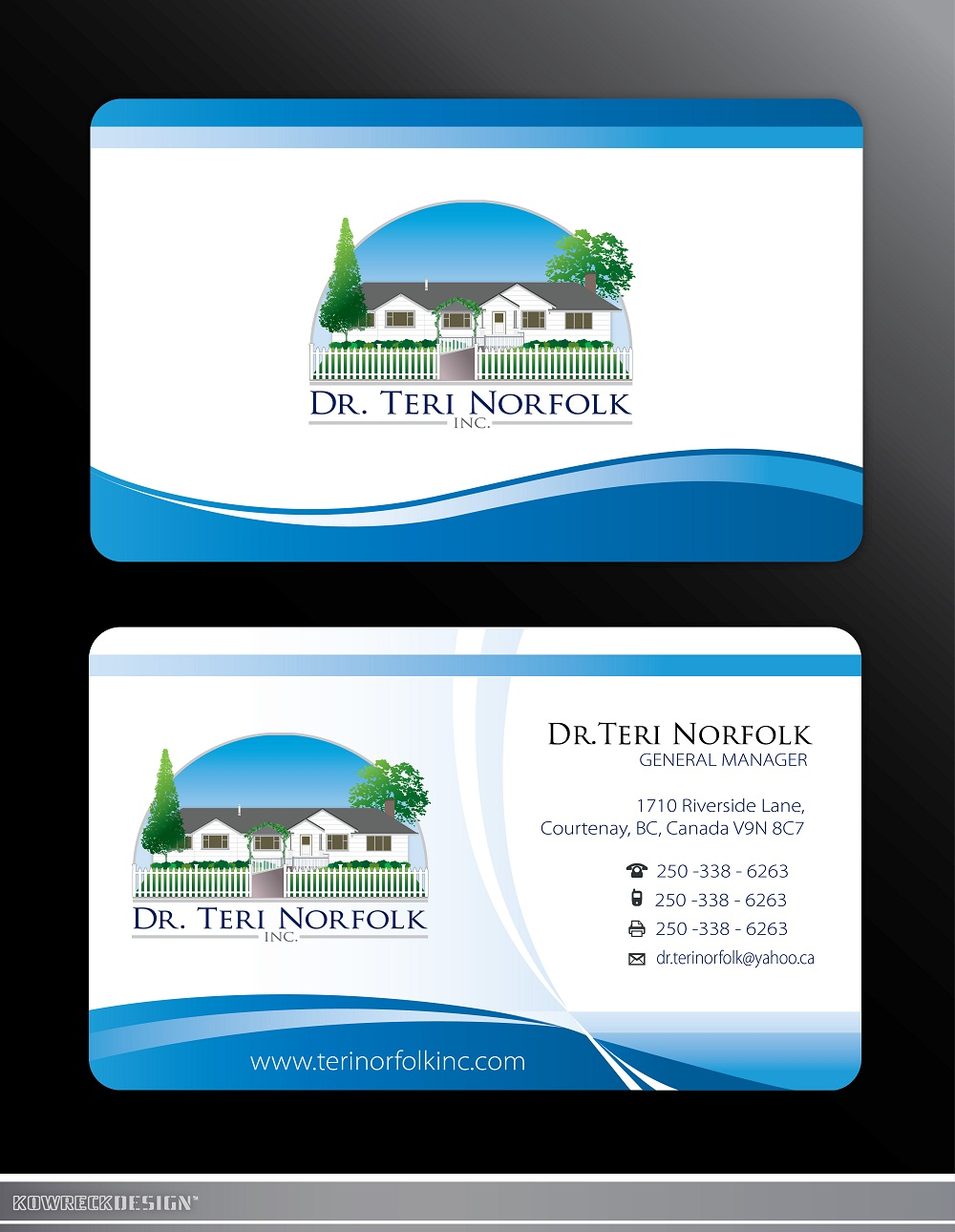 Unique business card design wanted for dr teri norfolk inc unique business card design wanted for dr teri norfolk inc hiretheworld reheart Gallery