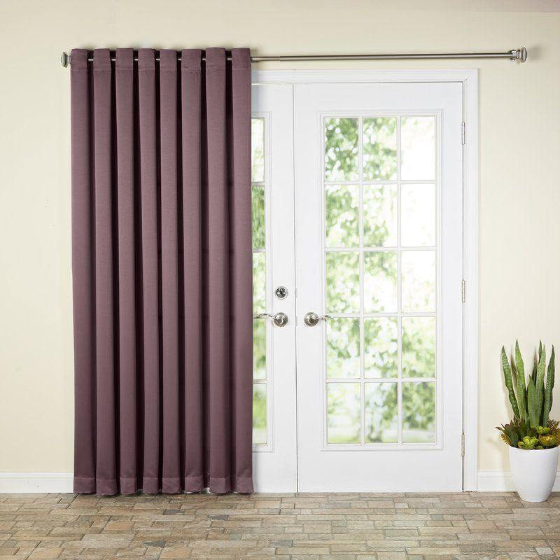 Wayfair Basics Solid Room Darkening Grommet Single Curtain Panel Patio Door Curtains Patio Curtains Panel Curtains