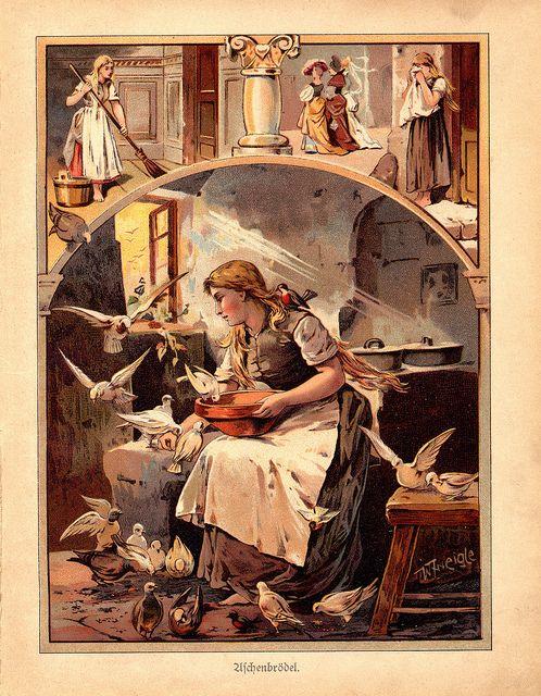 Cinderella, c1919 Aschenputtel, Märchen und Illustration - grimm küchen karlsruhe