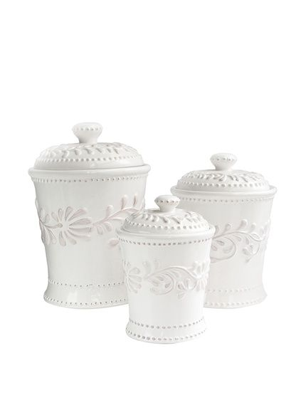 American Atelier 3-Piece Bianca Leaves Canister Set, http://www.myhabit.com/redirect/ref=qd_sw_dp_pi_li?url=http%3A%2F%2Fwww.myhabit.com%2Fdp%2FB00J3NR8A0%3F