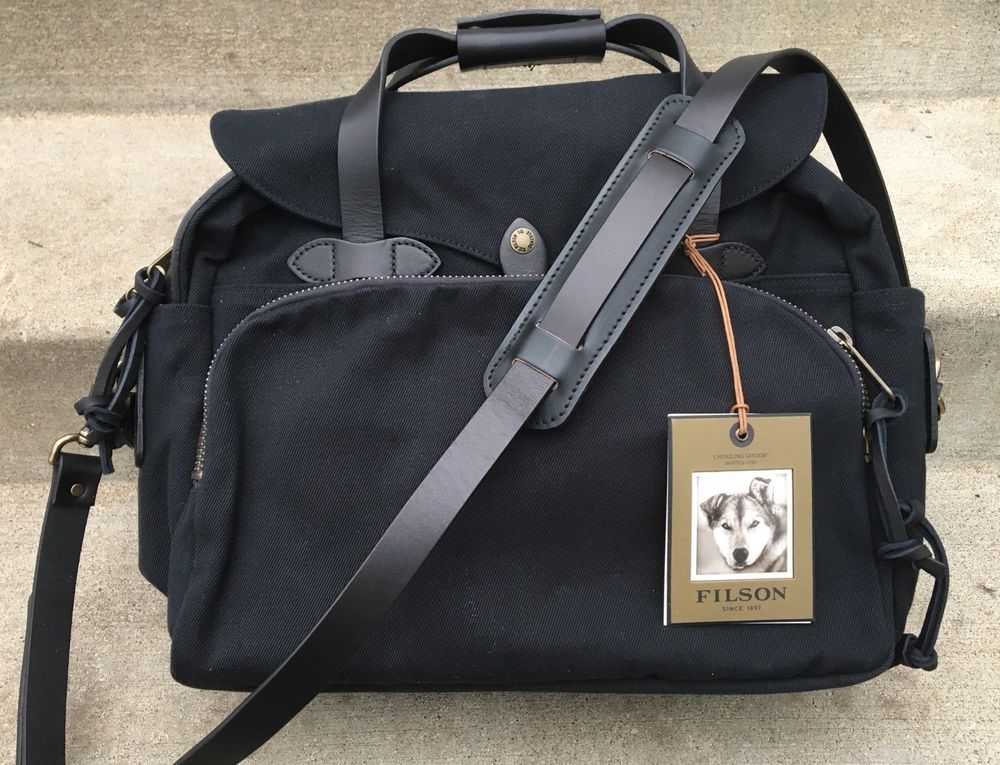 Nwt Filson Rugged Twill Padded Computer Bag Laptop Briefcase Black 11070258 425 Fashion Clothing Shoes Accessories Me Bags Computer Bags Laptop Briefcase