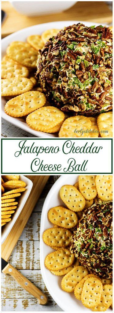 This jalapeno cheddar cheese ball recipe uses distinct cheeses, jalapenos, and spices to create a creamy appetizer that everyone will love. via @berlyskitchen