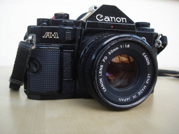 Vintage Camera Canon A1 80's Best Manual by PrettyTurkishThings, $155.00