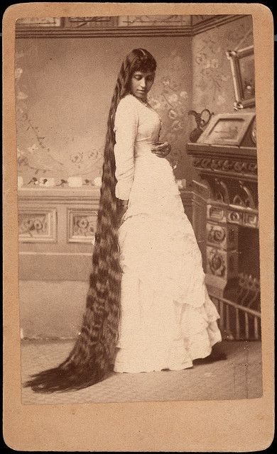 Victorian rapunzel 6 victorian women wavy hair and victorian a lovely young victorian woman shows off her impressive head of wavy hair worthy ccuart Image collections