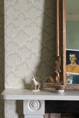 Liberty Furnishing Fabrics Ocean Ianthe Flower Wallpaper Home