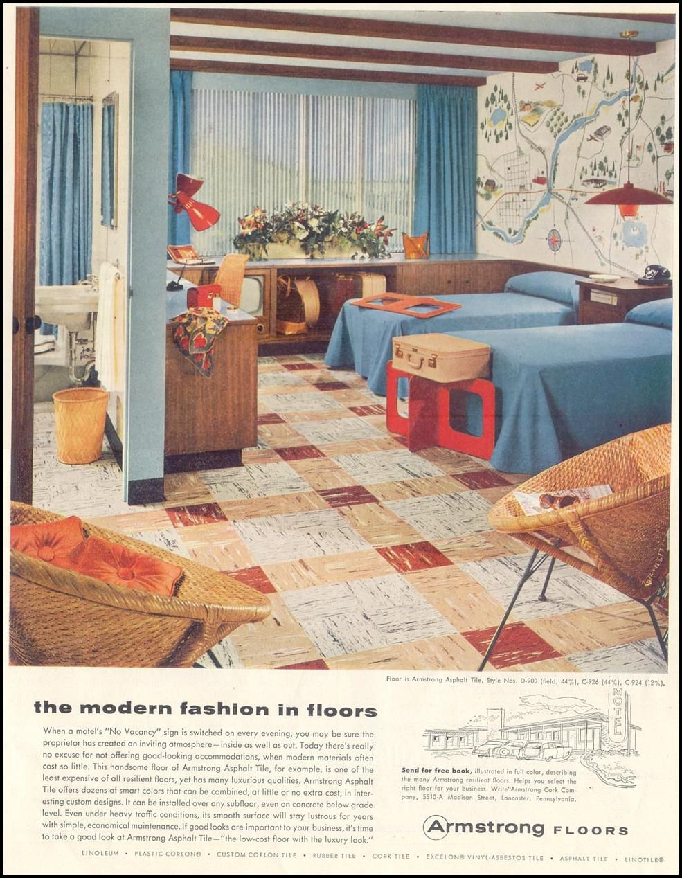 Armstrong Floors Life 10 29 1955 P 11 Vintage Interior