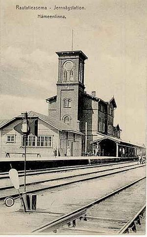Old Hämeenlinna railwaystation wich was destroyed in 1918 civil war.