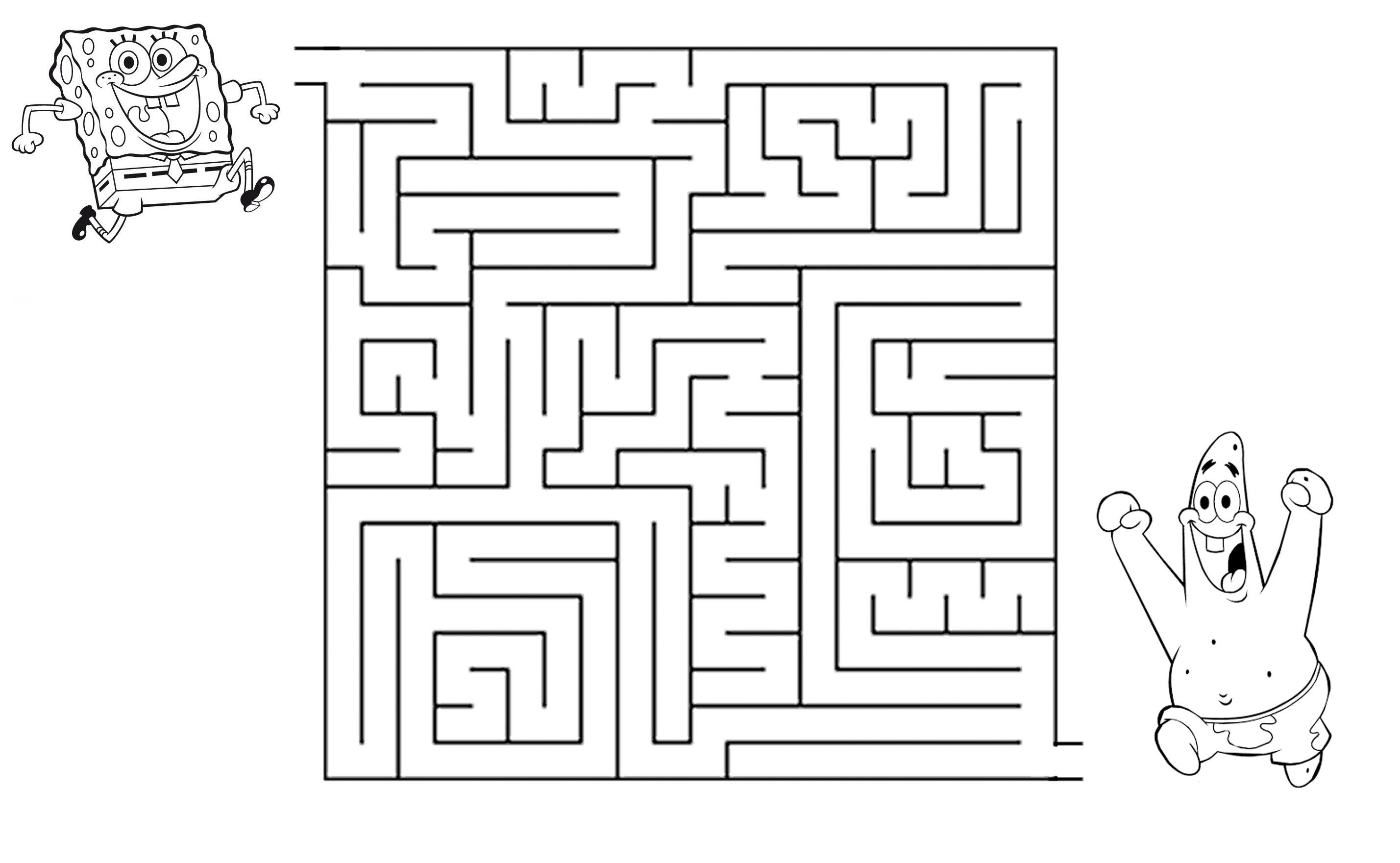 Help Spongebob Through The Maze To Find Patrick