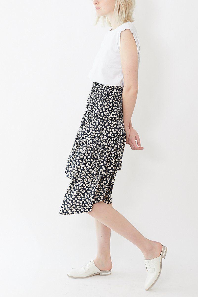 e87ab2c6 Ganni Roseburg Crepe Skirt | Ganni | Crepe skirts, Skirts, Bandeau dress