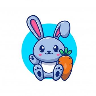 Cute Rabbit And Carrot Icon Illustration Bunny Logo Mascot Cartoon Character Animal Logo Concept White Isolated In 2020 Vector Icons Illustration Animal Logo Funny Cartoon Characters
