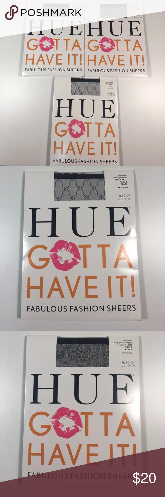 666e1f478da14 HUE Gotta Have It! Fashion Sheers Size 2, Lot of 3 Brand new lot of ...