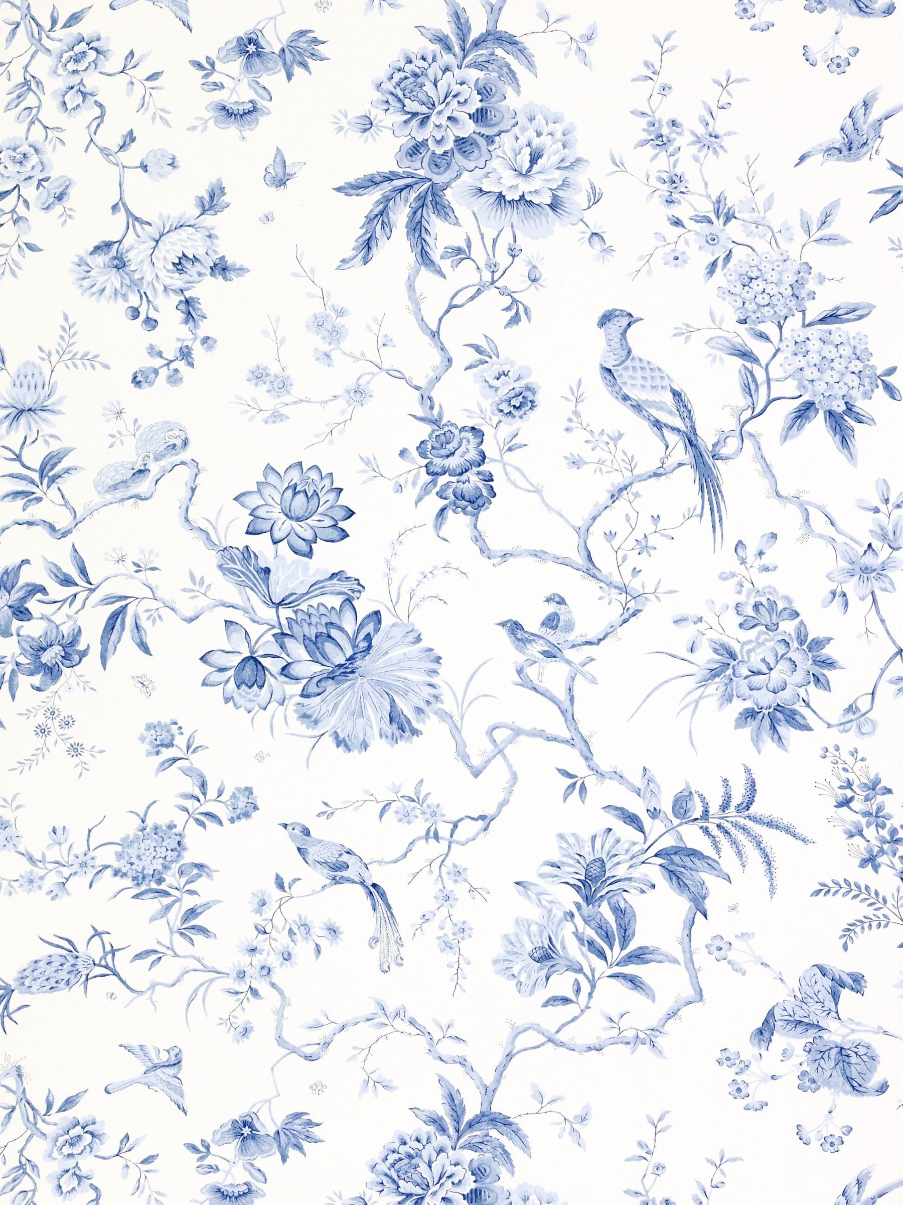 Best Sanderson Wallpaper Pillemont Dpempi101 China Blue In 400 x 300