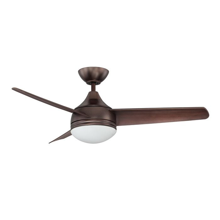 Kendal Lighting 42 Quot Moderno 3 Blade Ceiling Fan With Wall Remote Amp Reviews Allmodern Fan Light Bronze Ceiling Fan Ceiling Fan With Light