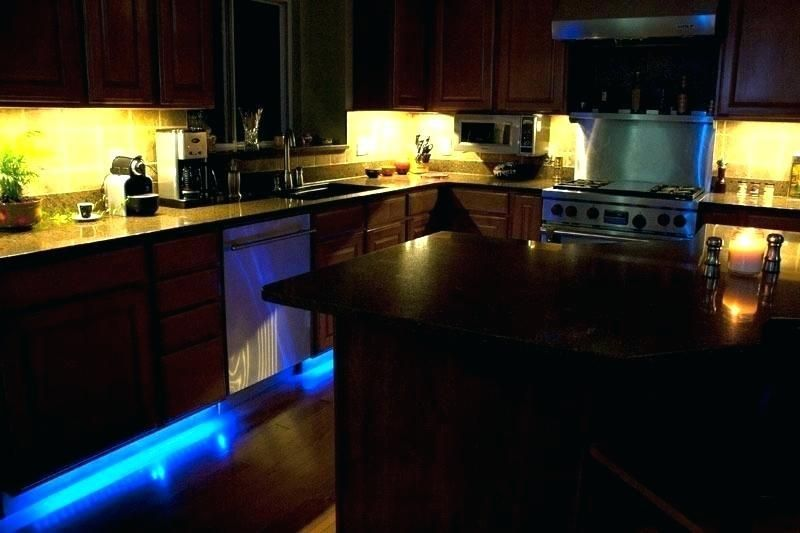 Cabinet Accent Lighting Island Counter Kitchen Under