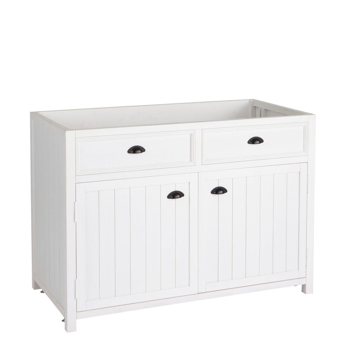 k chenunterschrank aus holz b120 wei k che pinterest k chen unterschrank unterschr nke. Black Bedroom Furniture Sets. Home Design Ideas