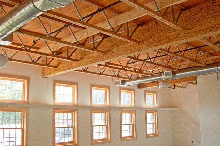 Red s open web truss engineered wood truss for for Open web floor joists