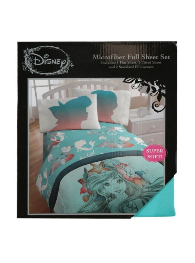Microfiber Full Sheet Set From Disney S The Little Mermaid