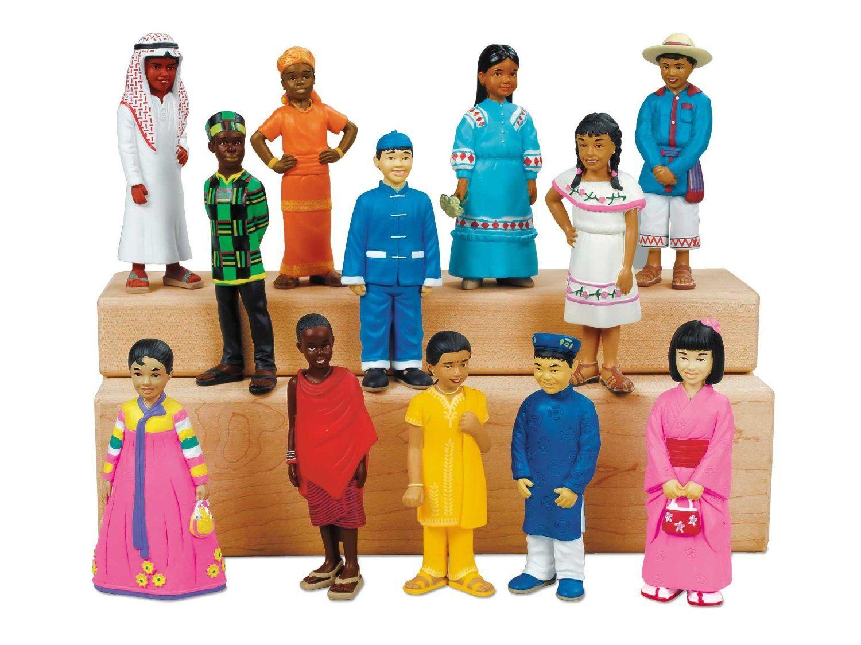 Amazon.com: Kids Around the World Block Play People: Toys & Games