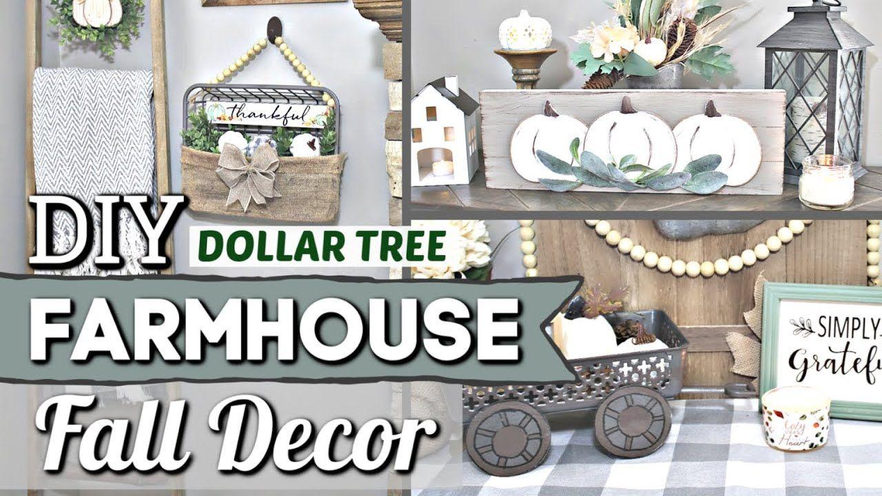 Dollar Tree Farmhouse Fall Diys Dollar Store Fall Decor Ideas Krafts By Katelyn Youtube Fall Decor Dollar Tree Dollar Store Fall Decor Fall Decor Diy