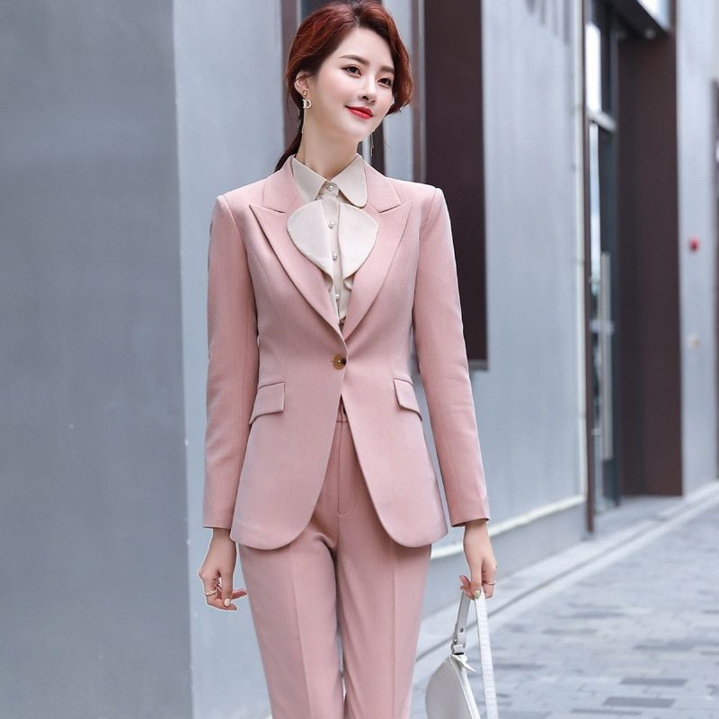 Best Sale Women Business Suit Blouse And Pants Set Work Suits For Women Suit Women Blazer Set Womens Suits Business Work Suits For Women Blazers For Women