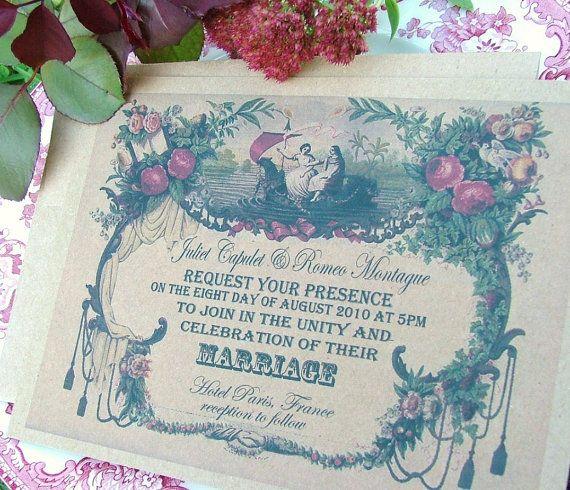 Wedding Invitation nostalgic and fabulous by sweetinvitationco, $65.00