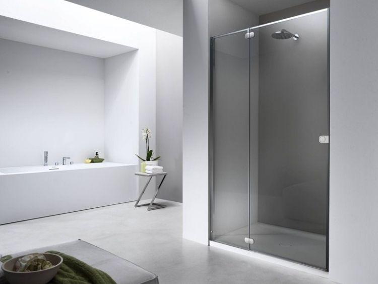 Moderne Duschkabine walk in duschkabine gemauert flat fn provex industrie bathroom