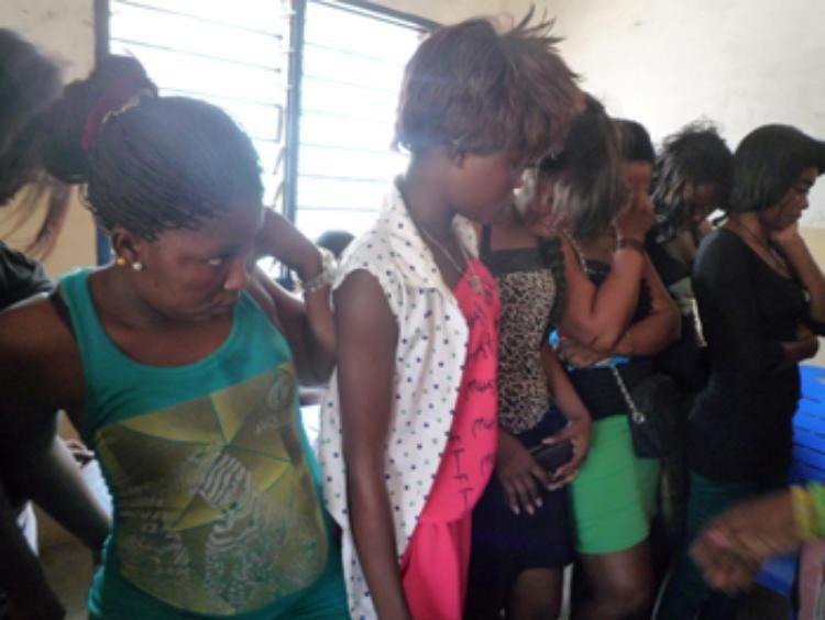 Takoradi: 23 Prostitutes Arrested By The Police