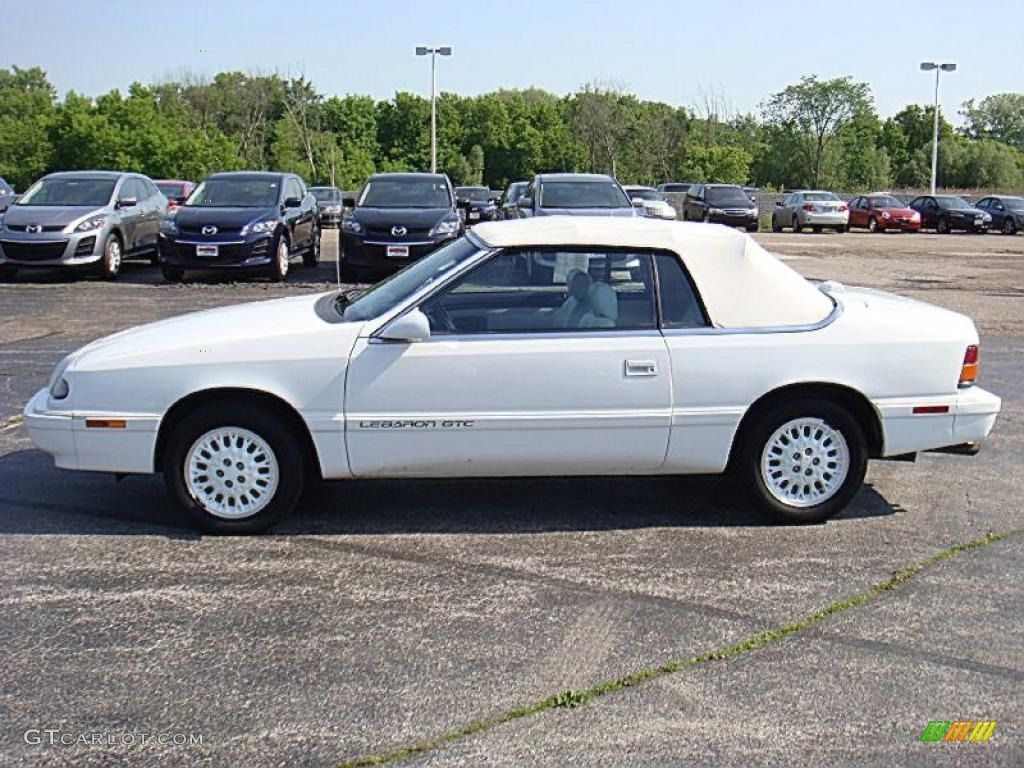 Chrysler Lebaron Convertible 1995 White Gtc 30544372 Gtcarlot Technically It Was My Mom S