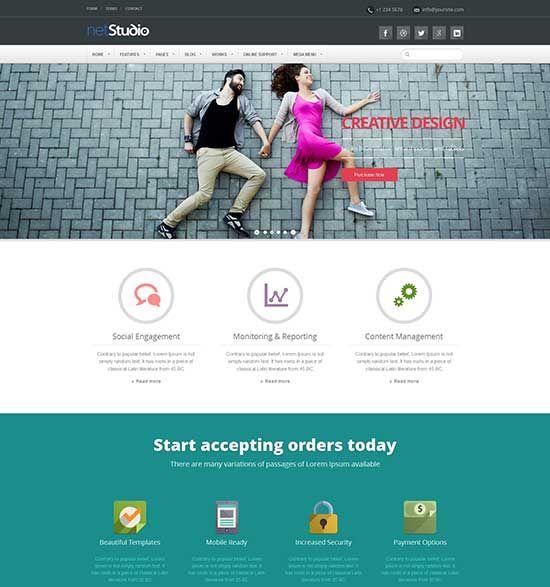 Bootstrap-Flat-Design-Website-Templates | UI/ UX design ...