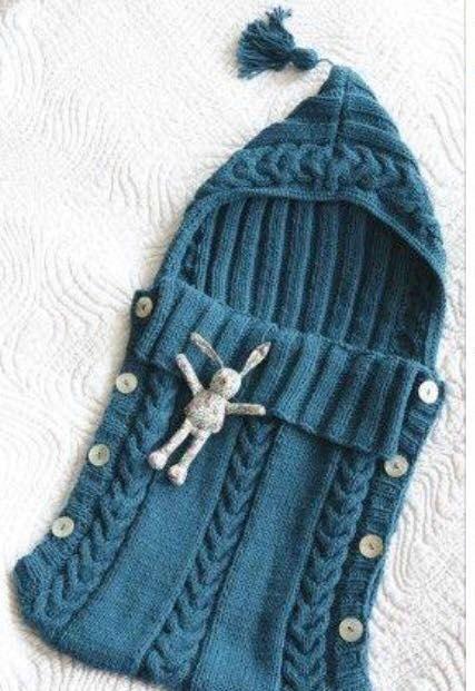 Hand gestrickte Baby Cocoon Babyschlafsack von twinklesparkleknits ...