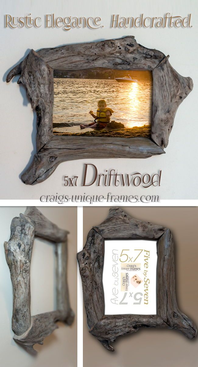Unique And Elegant Driftwood Picture Frames And Wood Frames Crafted From Other Types Of Recycled Wood Weddin Picture On Wood Rustic Frames Wood Picture Frames