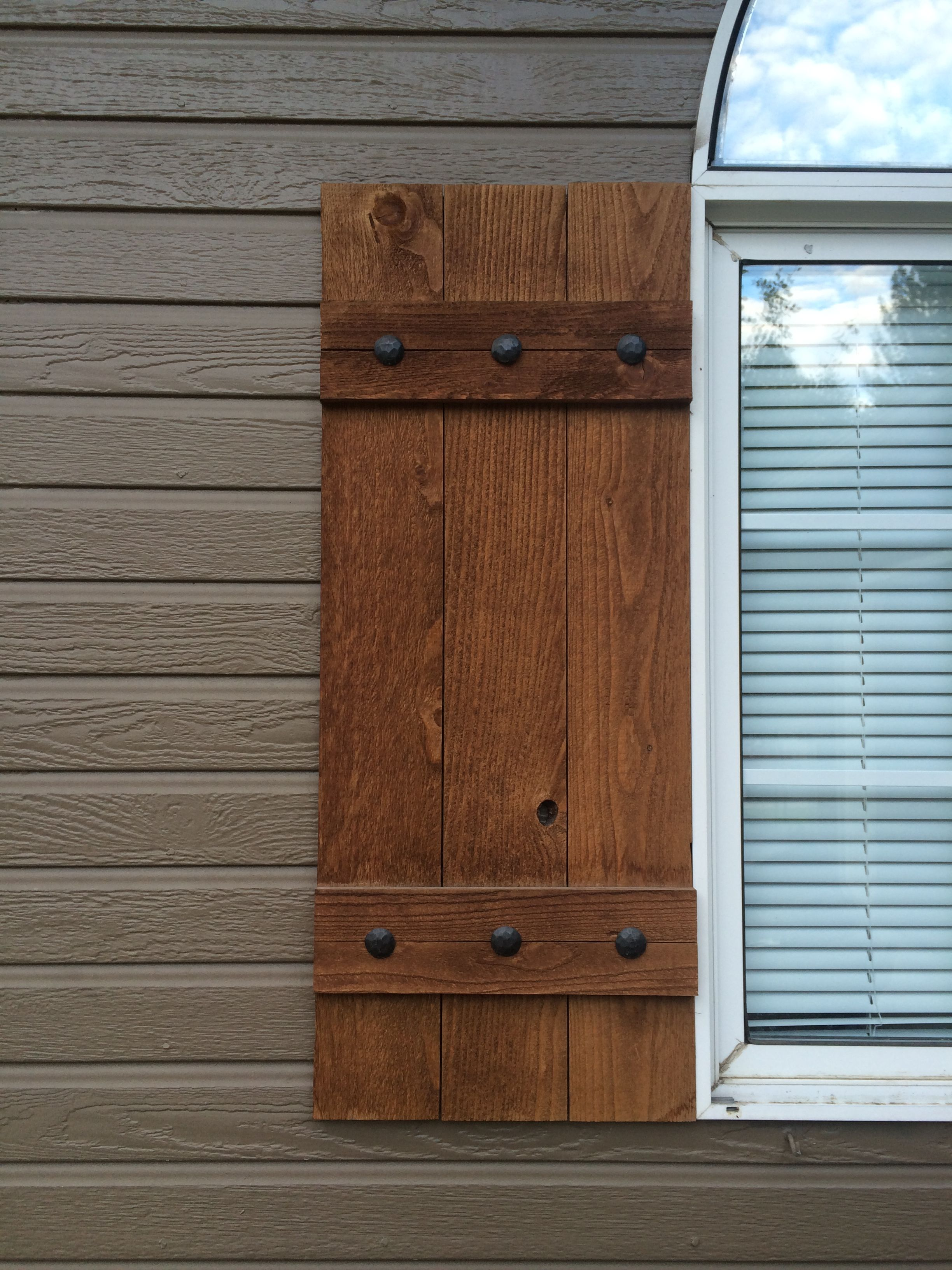 Homemade Shutters Stained Wood Decorative Nails From Ebay