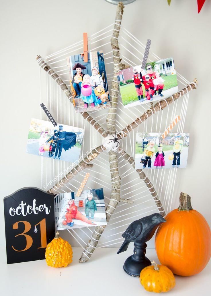 Best Diy Crafts Ideas  DIY Halloween Spider Web Photo Display - halloween diy crafts