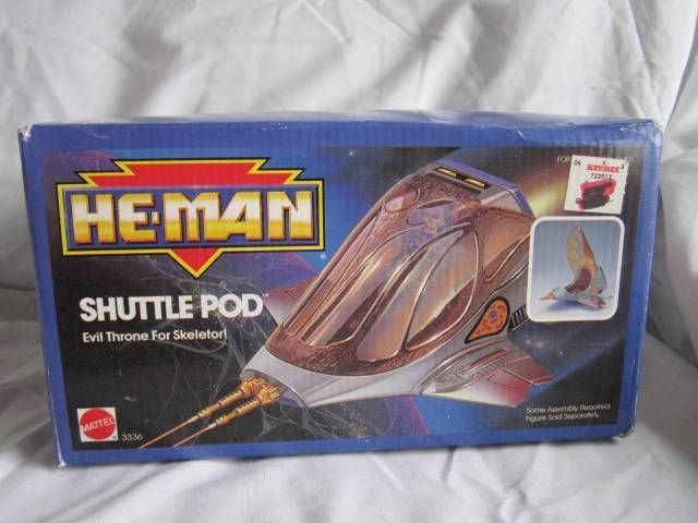 VINTAGE MASTERS OF THE UNIVERSE SKELETOR HE-MAN SHUTTLE POD NEW 1980'S TOYS