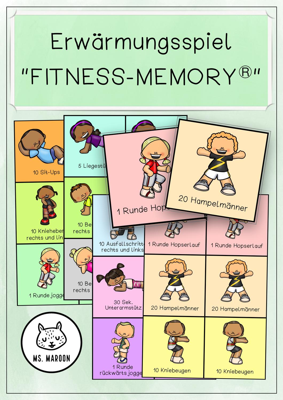 Erwarmungsspiel Fitness Memory Unterrichtsmaterial Im Fach Sport In 2020 Aufwarmubungen Schwimmunterricht Fitness