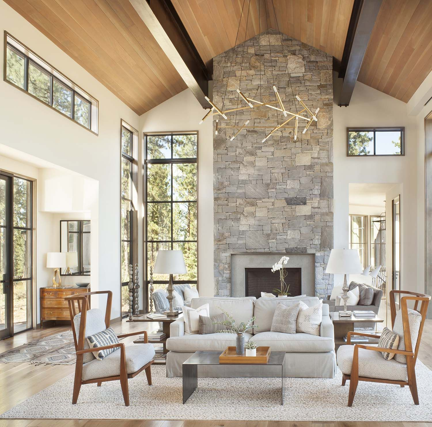 Stunning mountain home in lake tahoe evokes contemporary barn feeling also best double volume design images future house rh pinterest