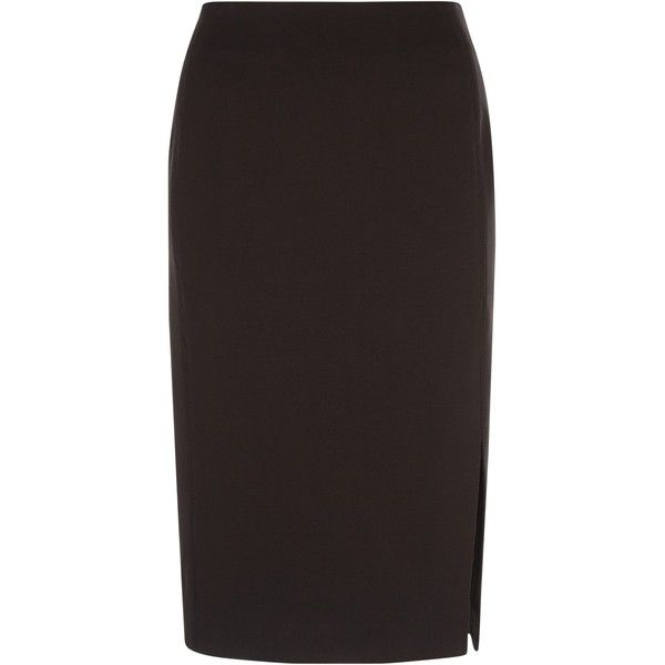 Jaeger Ponte Skirt, Black (1 180 SEK) ❤ liked on Polyvore featuring skirts, black pencil skirt, black stretchy skirt, knee length pencil skirt, ponte skirt и knee length skirts