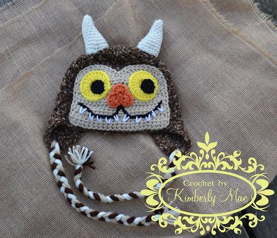 Where The Wild Things Are Earflap Hat Crochet Sets