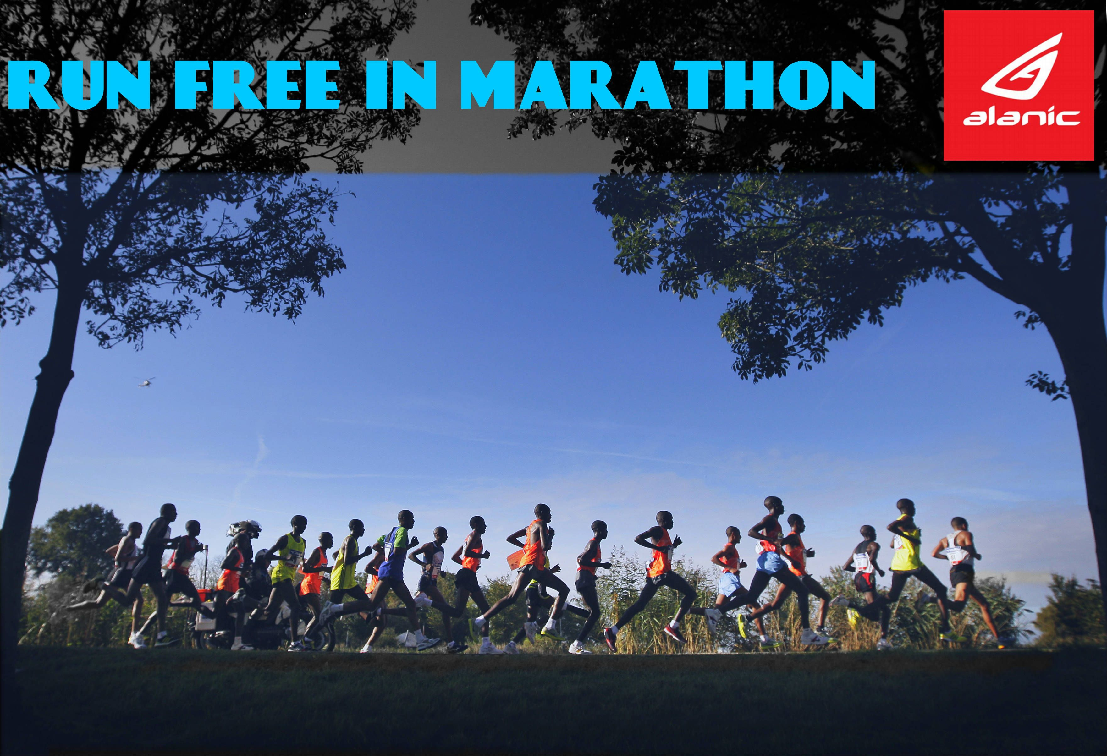 Run freely in your marathon never look back