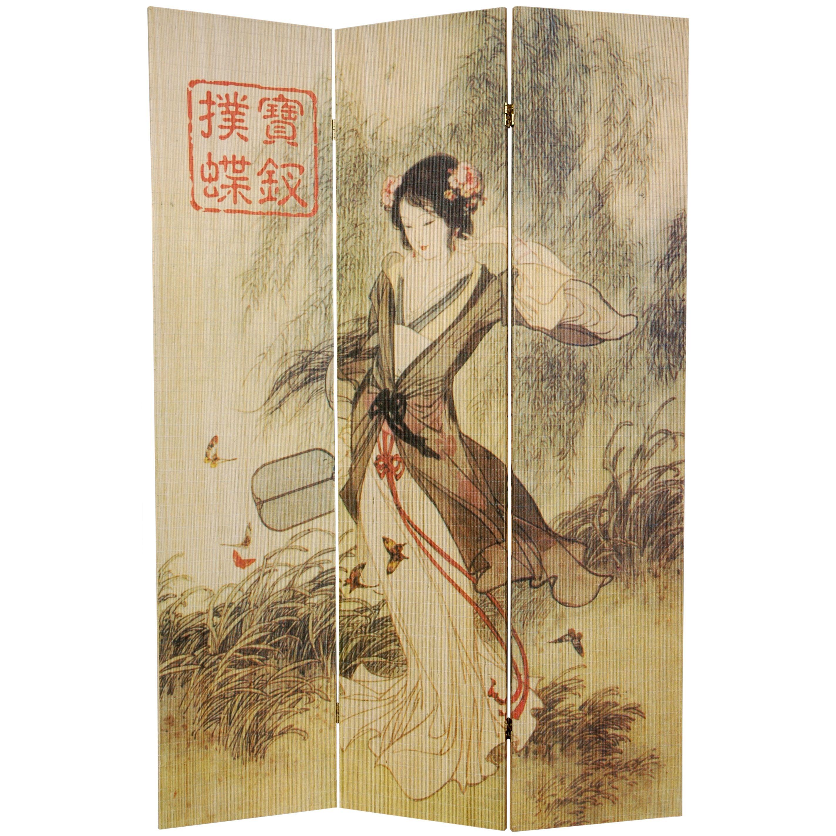 ft tall asian beauty bamboo room divider bamboo room divider
