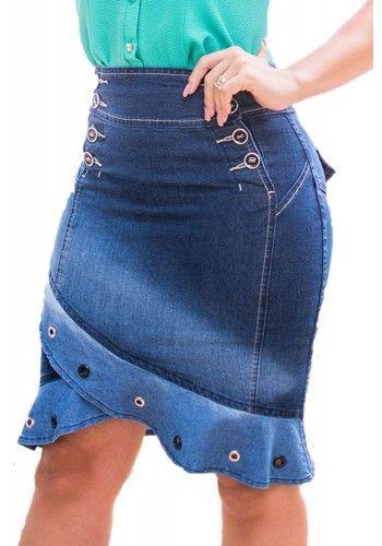 681800ad01a saia jeans barra raje frente