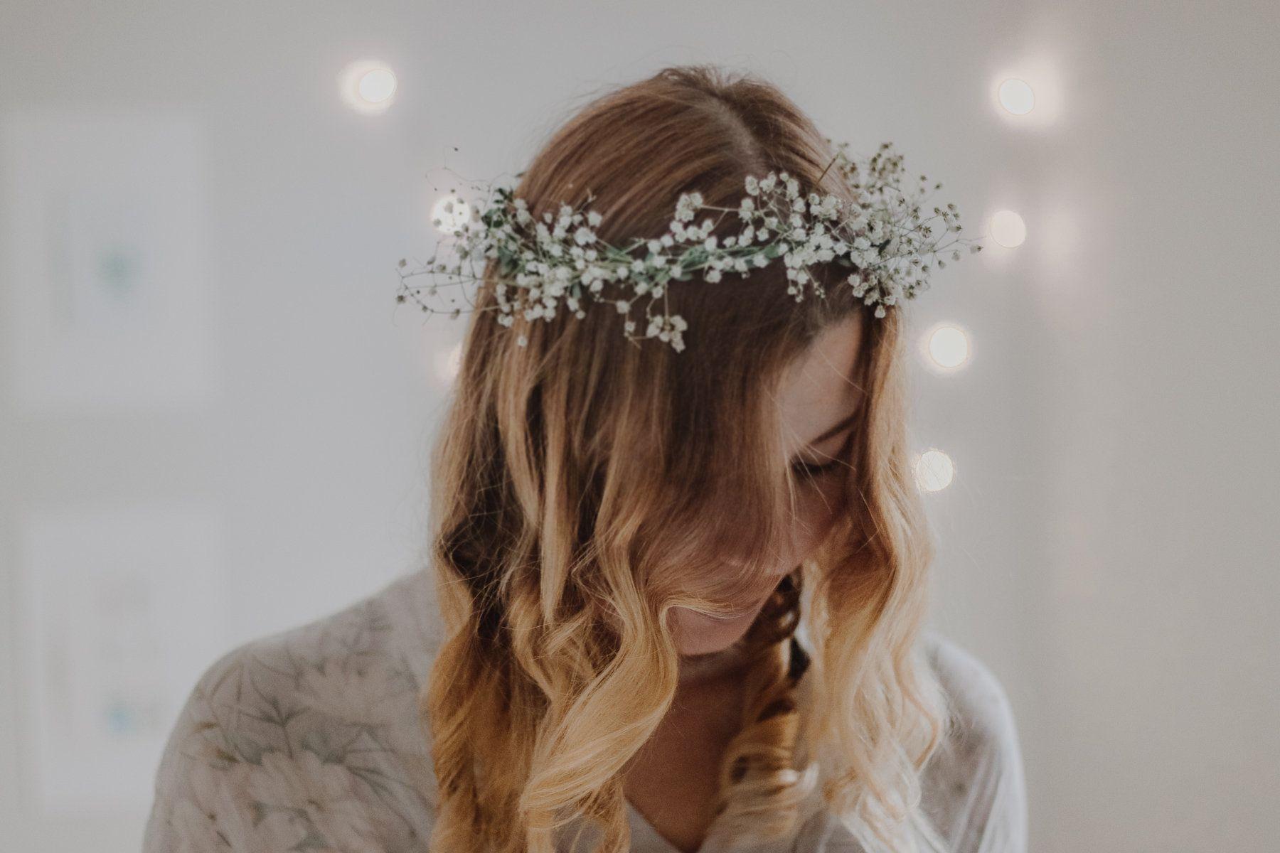 Gypsohila Baby S Breath Dried Flower Crown Bridal Etsy Bridal Crown Bridesmaid Wreath Bridesmaid Flowers