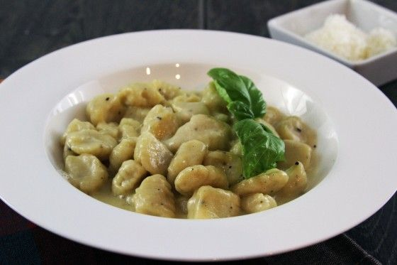 Gnocchi in Parmesan Garlic Sauce